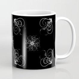 Silver Embossed Corners Coffee Mug