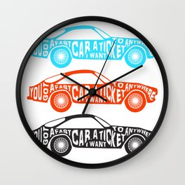 A Fast Sport Car Wall Clock