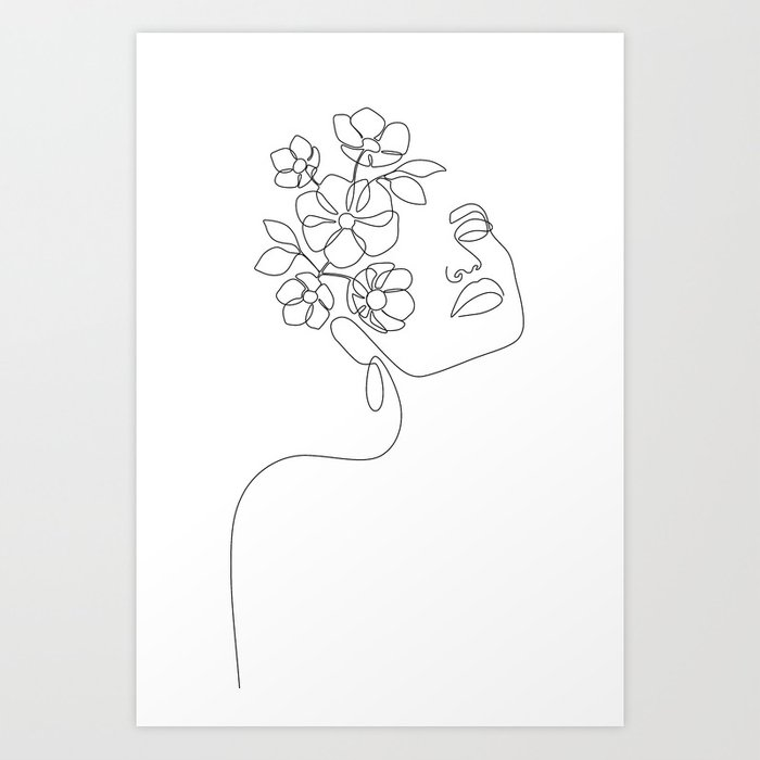 Dreamy Girl Bloom Art Print