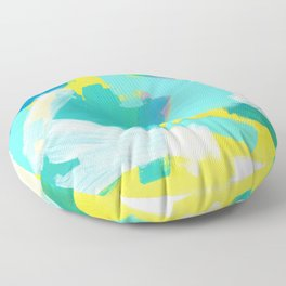 Be Kind, Be OK - mint modern mint abstract painting pastel colors Floor Pillow