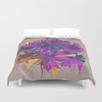 low poly Duvet Covers featuring Low Poly by Schmeez