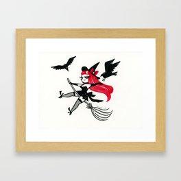 Broom Ride Framed Art Print