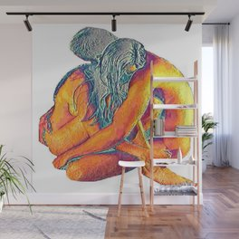 Hug o' War   Hug of War Nude Couple Cuddling Wall Mural