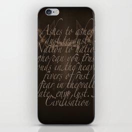 Civilisation: Ashes To Ashes iPhone Skin