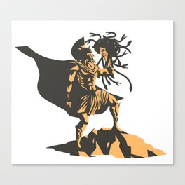 perseus holding the head of the medusa Canvas Print