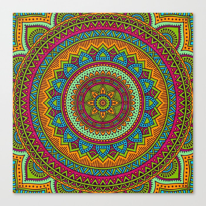 Hippie mandala 53 Canvas Print