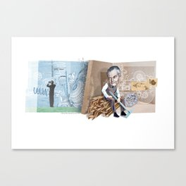 unemployed engineer... Canvas Print