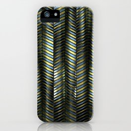 Alien Columns - Blue and Gold iPhone Case