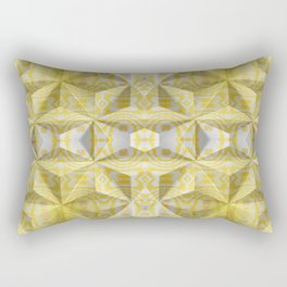 Geometric 3D Diamond Yellow Gold Print Rectangular Pillow