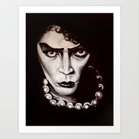 "rocky horror picture show Art Prints featuring Rocky Horror Picture Show ""Sweet Transvestite"" by Kristin Frenzel"