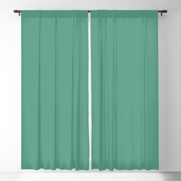 Mid-tone Summer Gemstone Green Solid Color Parable to Beach Grass 5008-8B by Valspar Blackout Curtain