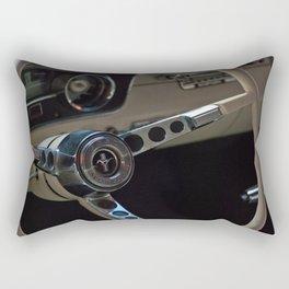 Inside a Mustang Rectangular Pillow