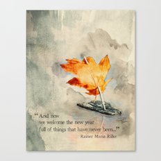 Welcome the New Year Canvas Print