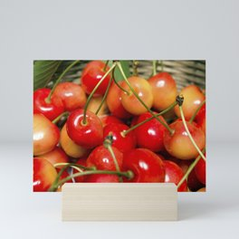 Cherries in a Basket Close Up Mini Art Print