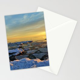 Icy  Lake Michigan Stationery Cards