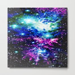Fox Fur Nebula Dark & Vibrant Metal Print