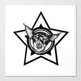 Tyson (black & white) Canvas Print