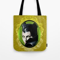 maleficent Tote Bags featuring Maleficent by Tish