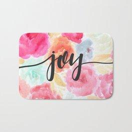 Watercolor Floral Joy Bath Mat