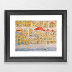 this town Framed Art Print