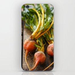 Rustic Golden Beets iPhone Skin