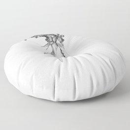 Scissorhands(BW-R) Floor Pillow