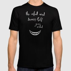 The Unfed Mind Devours Itself - Gore Vidal Mens Fitted Tee Black MEDIUM