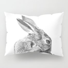 Black and white rabbit Pillow Sham