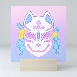 Kitsune Mask (pastel) Mini Art Print