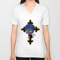 nightcrawler V-neck T-shirts featuring Chibi Nightcrawler by artwaste