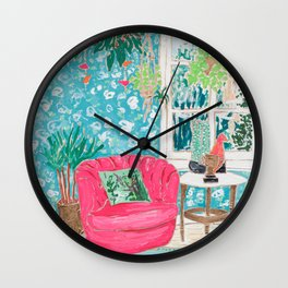 Pink Tub Chair Wall Clock