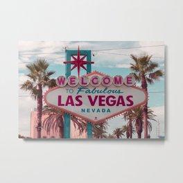 Retro Las Vegas Metal Print