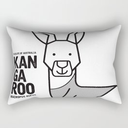 Kangaroo, Wildlife of Australia Rectangular Pillow