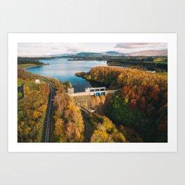 Poulaphouca Hydro Station Wicklow Ireland Art Print