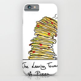 The Leaning Tower Of Pizza iPhone Case