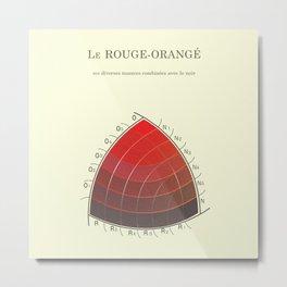 Le Rouge-Orangé (ses diverses nuances combinées avec le noir) Remake Metal Print