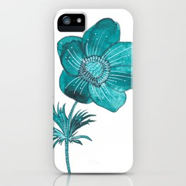 Anemone Watercolor iPhone Case