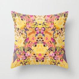 Symmetric Spring Throw Pillow
