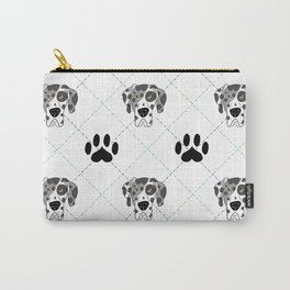 Merle Great Dane Paw Print Pattern Carry-All Pouch