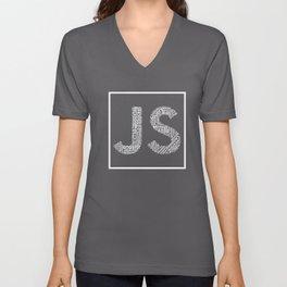 JS logo Wordcloud Tee Unisex V-Neck