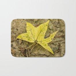 The Yellow Leaf Bath Mat