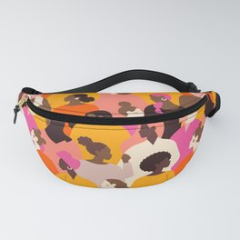 Female diverse faces pink Fanny Pack