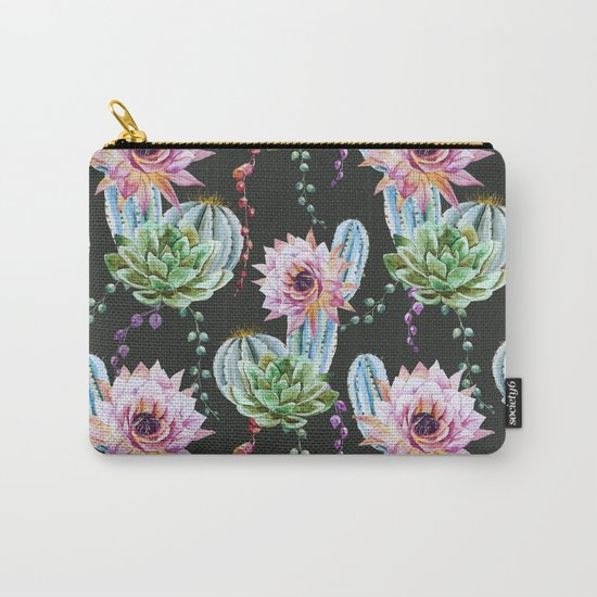Cactus Pattern 09 Carry-All Pouch