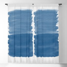 Classic Blue Abstract Minimalism #1 #minimal #ink #decor #art #society6 Blackout Curtain