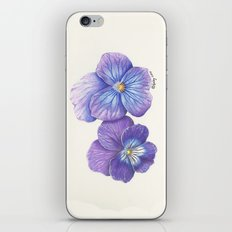 Purple Pansies iPhone Skin