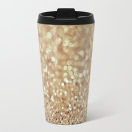 All That Glitters Is Gold Bokeh Travel Mug