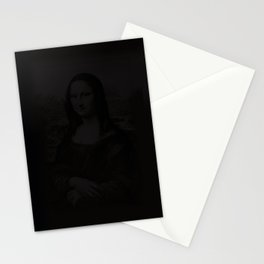 mona lisa in the dark Stationery Cards