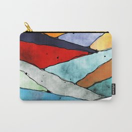Angles of Textured Colors Carry-All Pouch