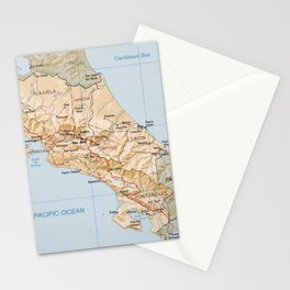 Costa Rica Map (1987) Stationery Cards