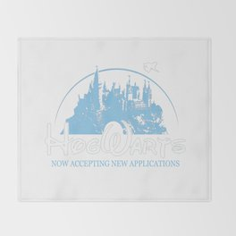 HarryPotter Funny Hogwarts Now Accepting Throw Blanket